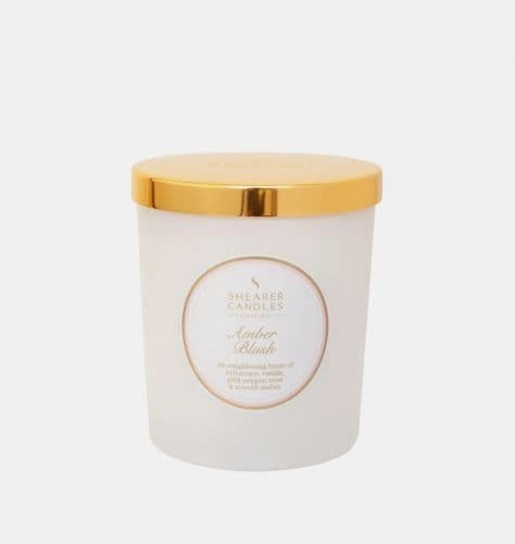 Amber Blush Jar Candle with Lid